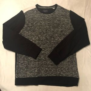 Men's Guess Knit Colorblock Sweater Black White XL